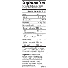 Carlson Labs Olive Your Heart Olive Oil Natural Supplement Facts