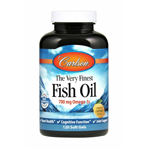 Carlson Labs The Very Finest Fish Oil Soft Gels Lemon