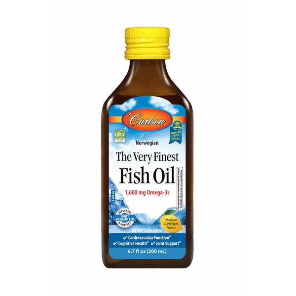Carlson Labs The Very Finest Fish Oil Liquid 200ml Lemon