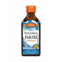 Carlson Labs The Very Finest Fish Oil Liquid 200ml Orange