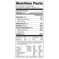 Vega Protein & Greens Chocolate Nutrition Facts