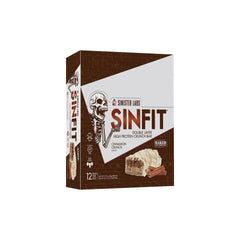 Sinister Labs SinFit Protein Bars Box of 12 Cinnamon Crunch