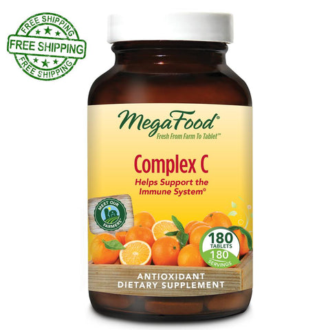MegaFood Complex C 180 Tablets Free Shipping
