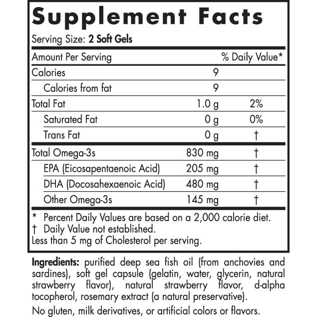Nordic Naturals DHA Supplement Facts