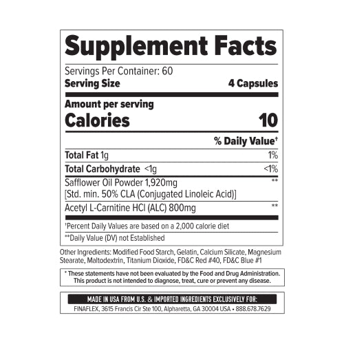FinaFlex ALC/CLA Supplement Facts