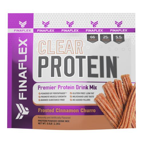 FinaFlex Clear Protein 5lb Frosted Cinnamon Churro