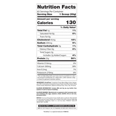 FinaFlex Clear Protein 1.5lb Supplement Facts