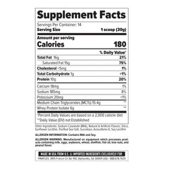 FinaFlex 100% Keto Food 1lb Supplement Facts