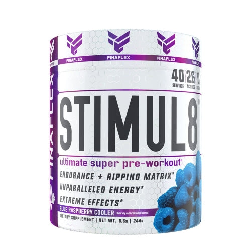 FinaFlex Stimul8 40 Servings Blue Raspberry Cooler