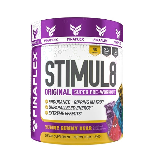 FinaFlex Stimul8 40 Servings Yummy Gummy Bear