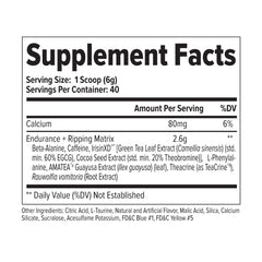 FinaFlex Stimul8 40 Servings Supplement Facts
