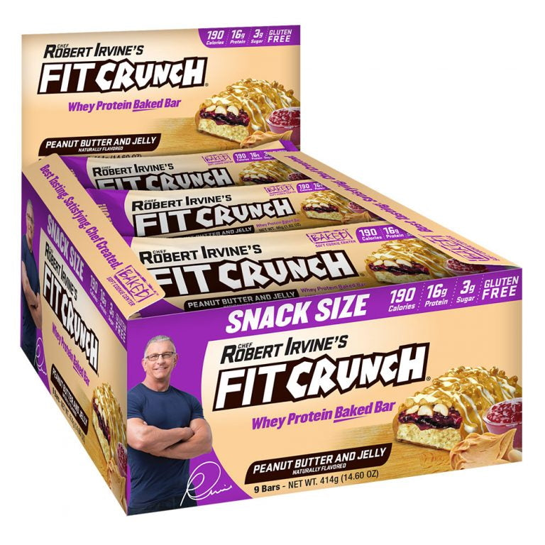 Robert Irvine Fit Crunch Snack Bars Box of 9