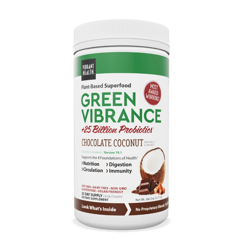 Vibrant Health Green Vibrance Chocolate Coconut 25 Servings