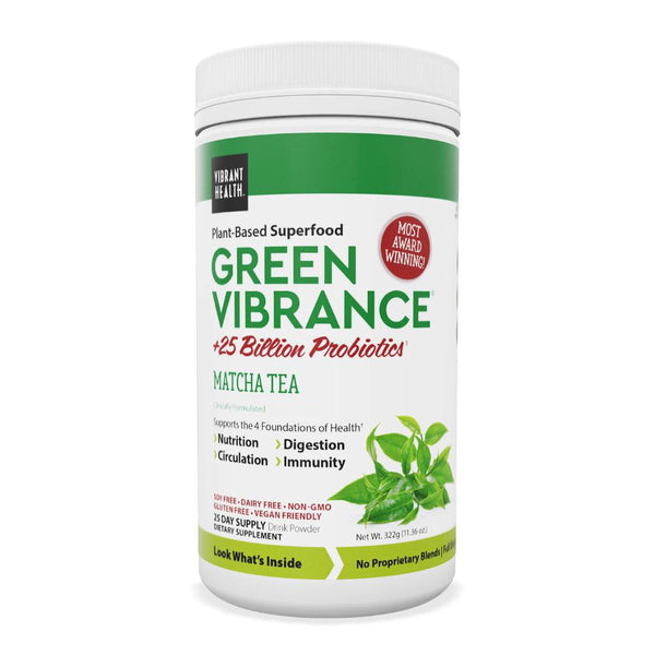 Vibrant Health Green Vibrance Matcha Tea 25 Servings
