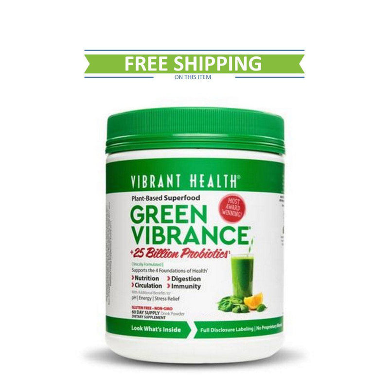 Vibrant Health Green Vibrance 60 Servings Free Shipping