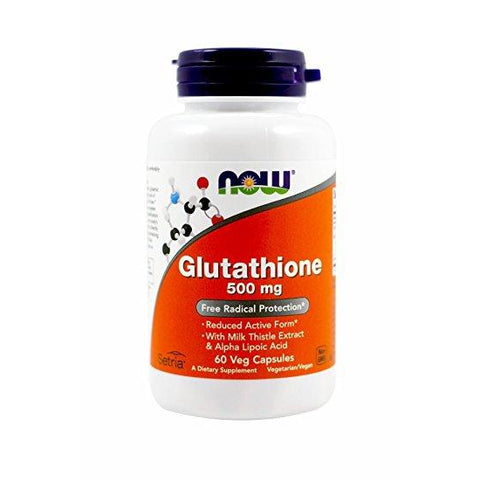 Now Foods Glutathione 500mg 60vc