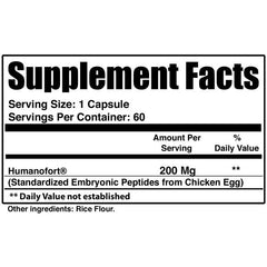 Nutri Sync Humanofort 60 Capsules Nutrition Facts