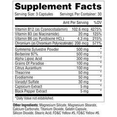 Metabolic Nutrition InsuLean Supplement Facts