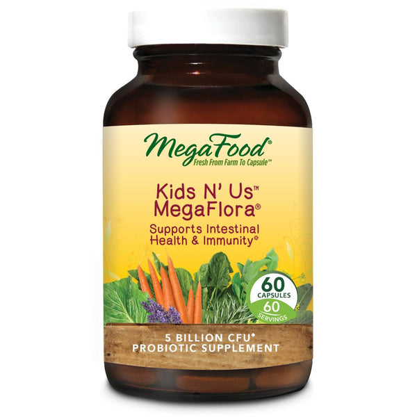 MegaFood Kids N' Us MegaFlora 60 Tablets