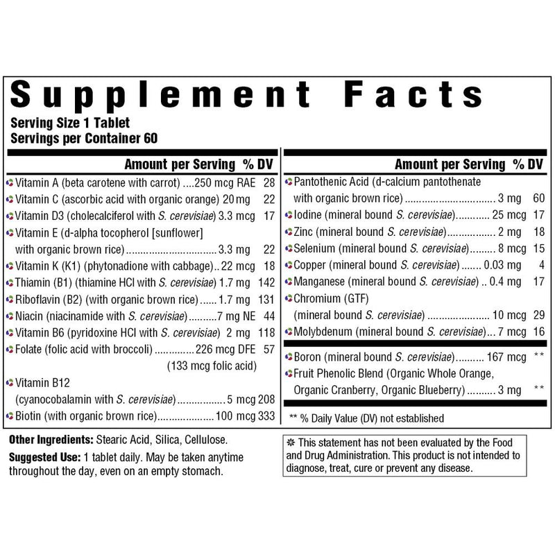MegaFood Kid's One Daily Supplement Facts