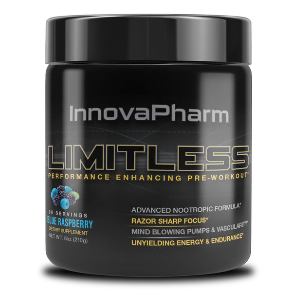 InnovaPharm Limitless Pre Workout 30 Servings Blue Raspberry