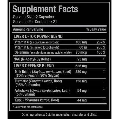 Allmax Nutrition Liver DTox Supplement Facts