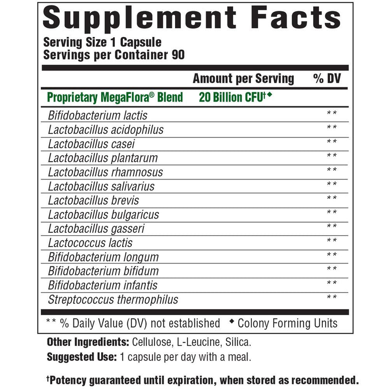 MegaFood MegaFlora Supplement Facts