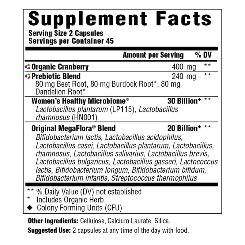 MegaFood MegaFlora for Women Supplement Facts