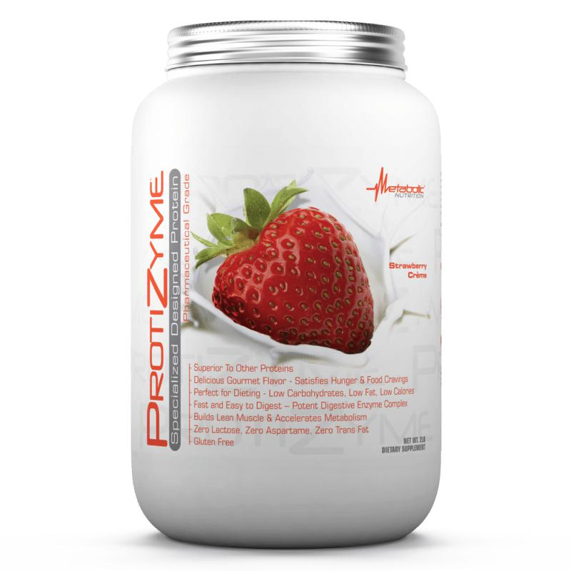 Metabolic Nutrition Protizyme 2lb Strawberry Creme