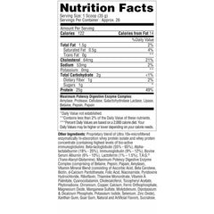Metabolic Nutrition Protizyme 2lb Vanilla Cake Nutrition Facts