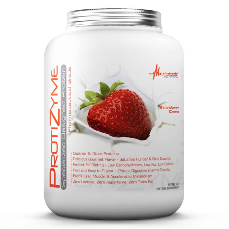 Metabolic Nutrition Protizyme 5lb Strawberry Creme