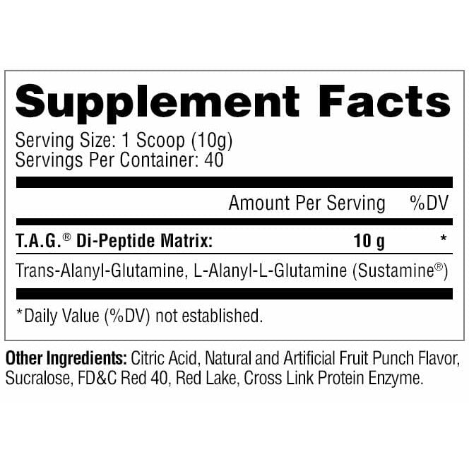 Metabolic Nutrition TAG Fruit Punch Supplement Facts