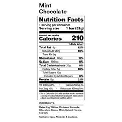 RX Bar Nutrition Facts Mint Chocolate