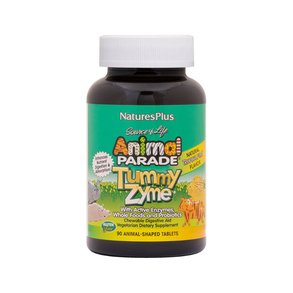 Nature's Plus Tummy Zyme Children's Chewable Digestive Aid 90T