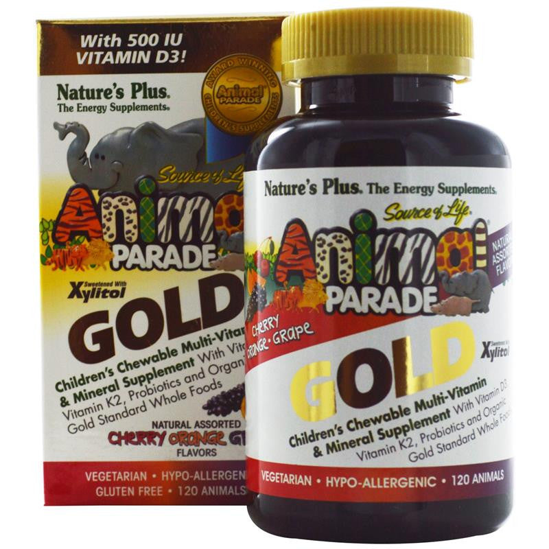 Nature's Plus Animal Parade Gold Children's Chewable Multivitamin 60T