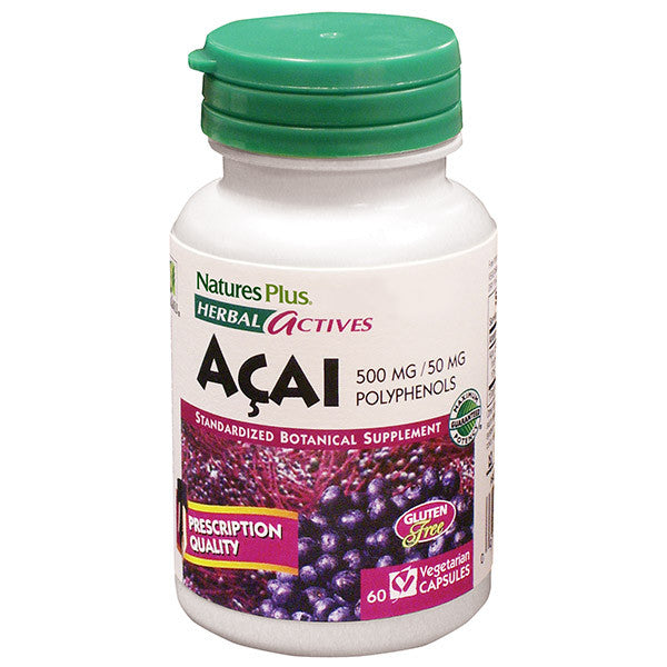 Nature's Plus Herbal Actives Acai 500mg 60VC - Discontinued