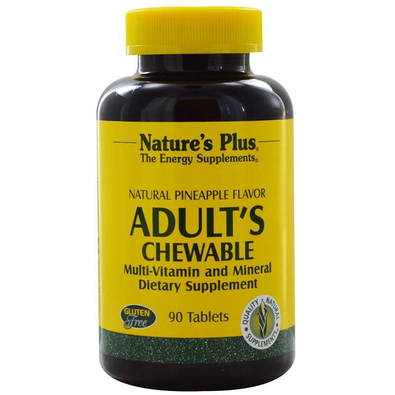 Nature's Plus Adult Chewable Multivitamin (Natural Pineapple) 180T