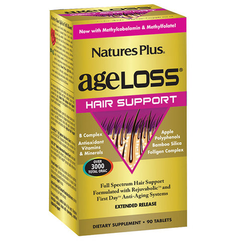 Nature's Plus AgeLoss Hair Support Extended Release 90T