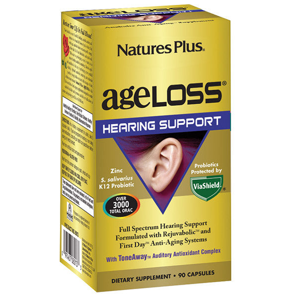 Nature's Plus AgeLoss Hearing Support 90VC