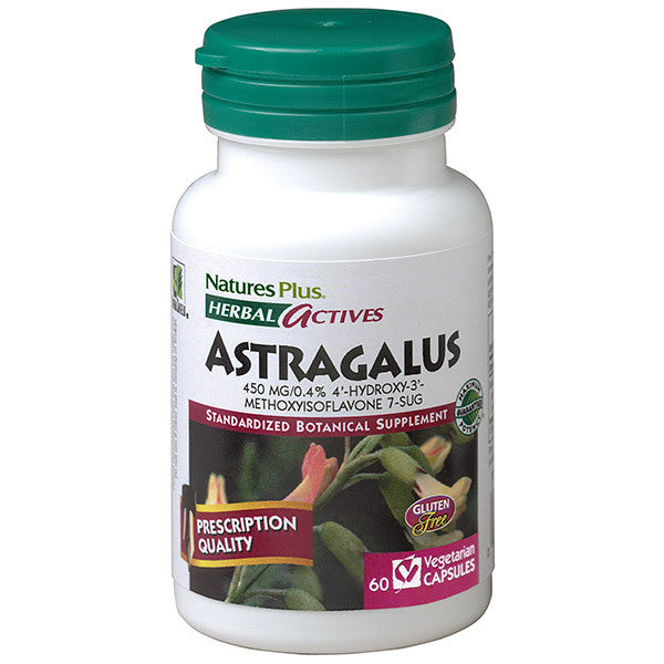 Nature's Plus Herbal Actives Astragalus 450mg 60VC