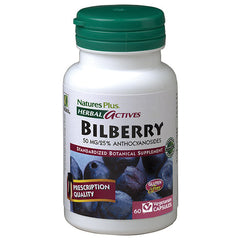 Nature's Plus Herbal Actives Bilberry 50mg 60VC