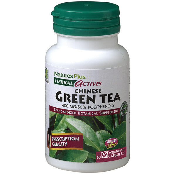 Nature's Plus Herbal Actives Chinese Green Tea 400 mg 60VC