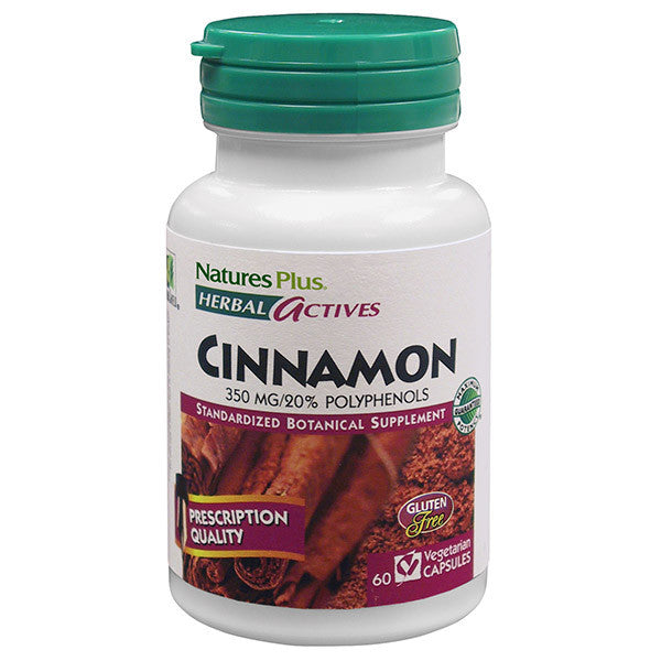 Nature's Plus Herbal Actives Cinnamon 350mg 60VC