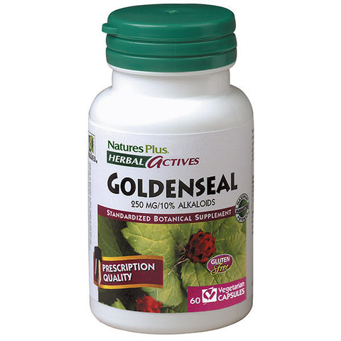 Nature's Plus Herbal Actives Goldenseal 250mg 60VC
