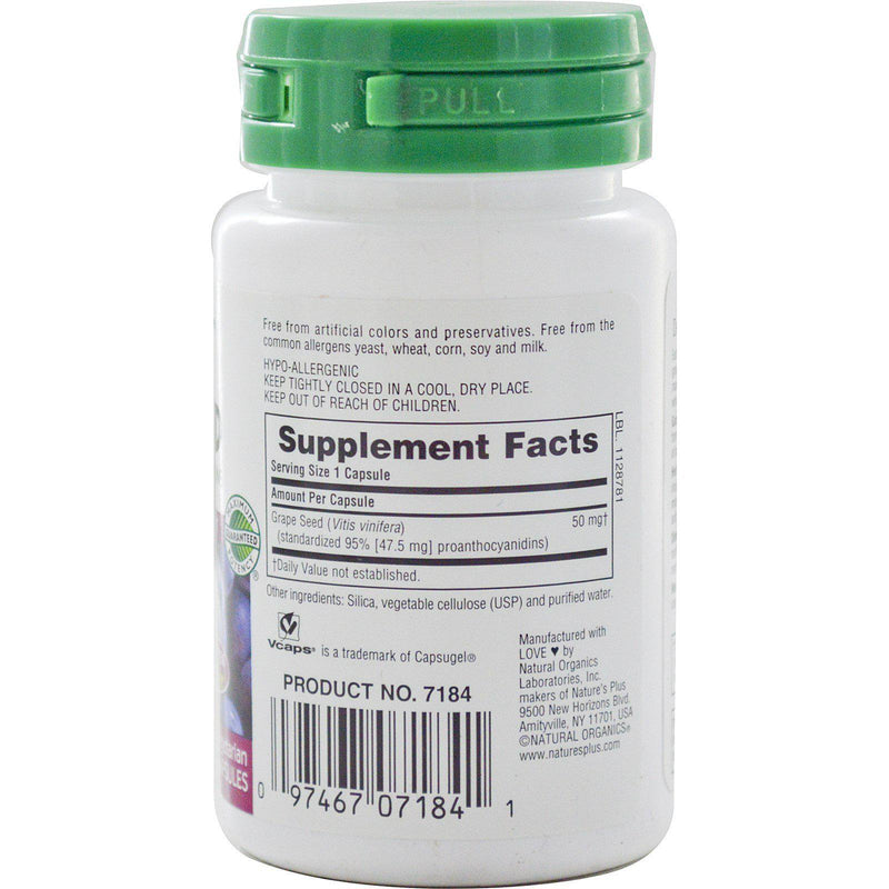 Nature's Plus Herbal Actives Grape Seed 50mg 30VC - Discontinued