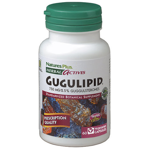 Nature's Plus Herbal Actives Gugulipid 750mg 60VC