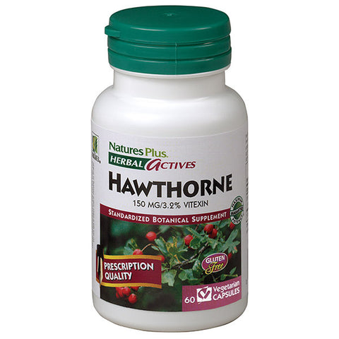 Nature's Plus Herbal Actives Hawthorne 150mg 60VC