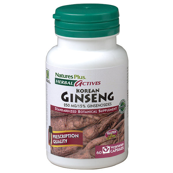 Nature's Plus Herbal Actives Korean Ginseng 250mg 60VC