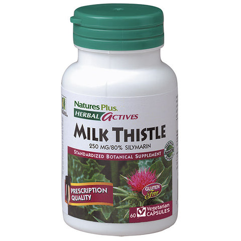 Nature's Plus Herbal Actives Milk Thistle 250mg 60VC