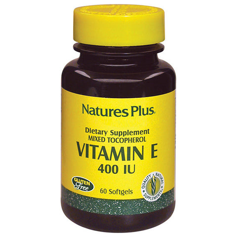 Nature's Plus Mixed Tocopherol Vitamin E 400IU 60SG